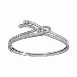 18KT White Gold 0.81ctw Diamond Bracelet