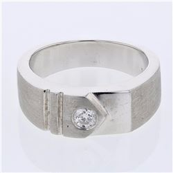 14KT White Gold 0.23ct Diamond Ring