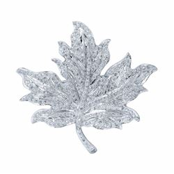 18KT White Gold 2.20ctw Diamond Brooch