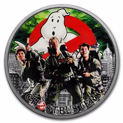 2017 $1 Ghostbusters Tuvalu 1 oz Silver Coin