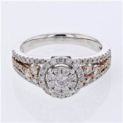 14KT Two Tone Gold 0.94ctw Diamond Ring