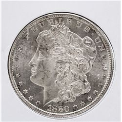 1880-S $1 Morgan Silver Dollar Coin Reverse Toning