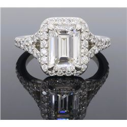 Platinum 1.27ct GIA Cert Diamond Ring