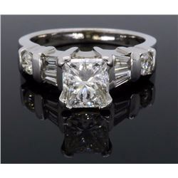14KT White Gold 1.42ctw Diamond Ring