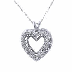 14KT White Gold 0.68ctw Diamond Pendant with Chain