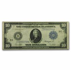 1914 $10 Philadelphia Federal Reserve Note