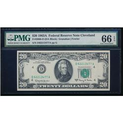 1963A $20 Cleveland Federal Reserve Note PMG 66EPQ