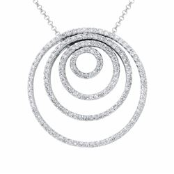 14KT White Gold 2.08ctw Diamond Pendant with Chain
