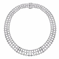14KT White Gold 16.17ctw Diamond Necklace