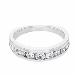 18KT White Gold 0.74ctw Diamond Ring