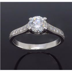 14KT White Gold 0.86ctw Diamond Ring