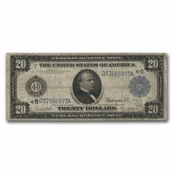 1914 $20 Cleveland Federal Reserve Note
