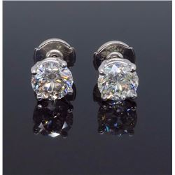14KT White Gold 1.80ctw Diamond Stud Earrings