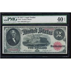 1917 $2 Legal Tender Note PMG 40EPQ