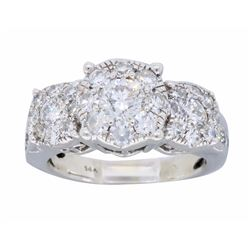 14K White Gold 1.49ctw Diamond Ring