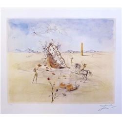 Salvador Dali COSMIC HORSEMAN  Limited Edition Plate Signed Lithograph W/COA