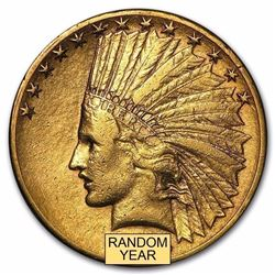 $10 Indian Gold Eagle Minted 1907-1933