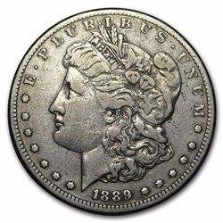 1889-CC Silver Morgan Dollar VF-30 RARE DATE, ONLY 350,000 MINTED