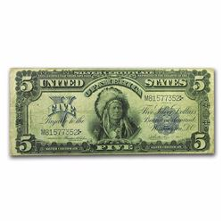 1899 $5.00 Silver Certificate Chief VF