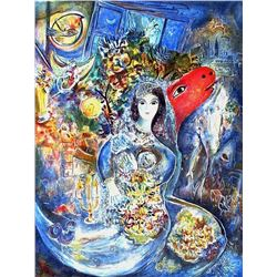 "Marc Chagall ""Bella"" Ltd Edition Litho, W/COA, 34""x22"""