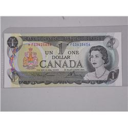Bank of Canada 1973 UNC $1.00 Replacement.
