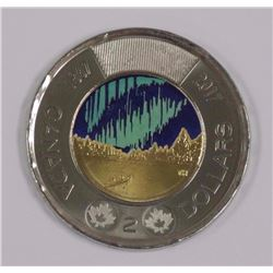 Canada 2017 Flow in The Dark Two Dollar.