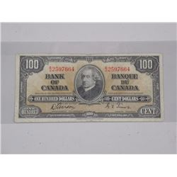 1937 Bank of Canada $100.00. (F)