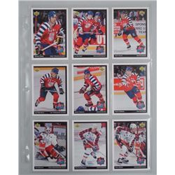 Lot (9) UD 1993 all Star Hockey Cards.