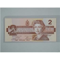 1986 Bank of Canada $2.00 'AUL' BC55A. (CE)