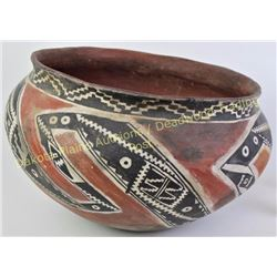 "Large nicely accomplished South West Tonto dough bowl by Bill Freeman, 1927-2012, 14"" diameter X 9 1"