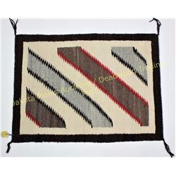 "Fred Harvey Navajo rug 23"" X 30"" showing very good condition, weaver identified as Grace Yazzie on o"