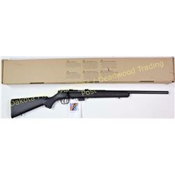 "Savage 93R17 .17 HMR SN 96714 bolt action rifle, blue with synthetic stock and 21"" barrel. New in th"