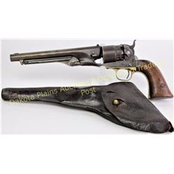 "Colt 1860 .44 cal. SN 104XX percussion revolver made in 1861, 8"" barrel, walnut grips, matching seri"
