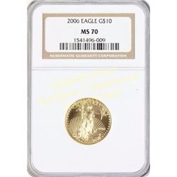 2006 Eagle G $10 gold coin MS 70.