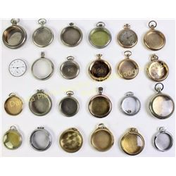 Group of misc. pocket watch covers. Est. 50-100
