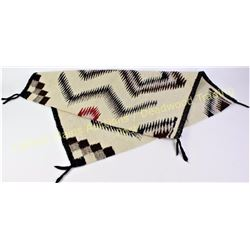 "Navajo rug with serrated diamond pattern 29"" X 29"", very good, no stain, bleed or fray.  Est. 100-17"