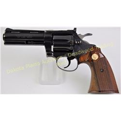 "Colt Diamond back 22 cal. SN R28396 revolver 4"" barrel blue finish with Colt medallion walnut checke"