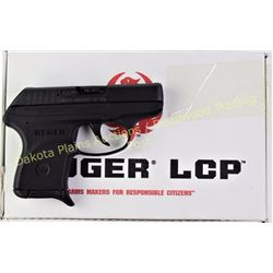 Ruger LCP .380 SN 371-10567 semi auto pistol, black finish, as new with finger grip extension, box,