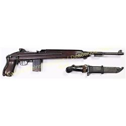 Inland M1A1 30 cal. SN 879883 paratrooper carbine with wire stock bayonet lug and bayonet. Action ex