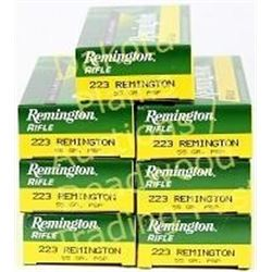 7 full boxes Remington .223 ammunition. Est. 125-200