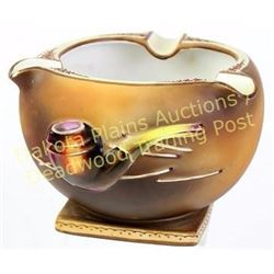 """Fine hand painted large cigar ashtray marked Nippon, 4"""" X 6"""" tall, excellent condition.  Est. 125-25"""