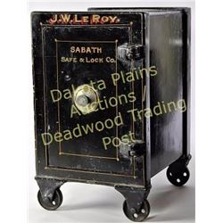 "Small antique combo safe, fine original condition including paint and lettering, only 10"" X 12"" X 17"