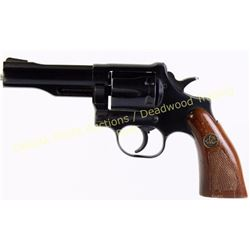 "Dan Wesson 357 Magnum SN 316485 revolver with 4"" barrel, DW checkered walnut grips. Overall good, sh"