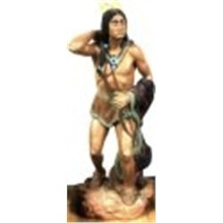 Life size vintage resin Cigar store Indian