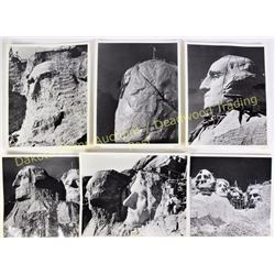"Collection of 13) - 8"" X 10"" photos all of Mt. Rushmore showing progression from start to finish. On"