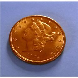 1904 Liberty $20 gold piece