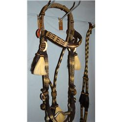 Deer Lodge prison-made horsehair headstall, high condition