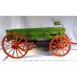 "Farm wagon replica, 43"" l x 15"" h, nice"