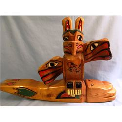 "Northwest whale totem, ca. 1930, 22"" x 5"" x 6"" inches"
