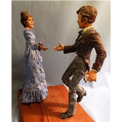 "Mimnaugh, Terry, (wax sculpture), 8"" h., Square Dancers,  never cast, would need artist's permission"